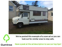 BURNSTER 4 Berth 1998 Motorhome 2.5 Diesel -- Read the description before replying to the ad!!