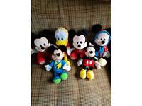 Disney mickey mouse soft toy collection