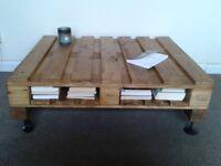 Handmade Industrial Pallet Table