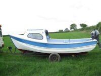 Boat 17FT GRP Pebble , 15HP Yamaha 4 Stroke , Trailer , VHF , Fishfinder