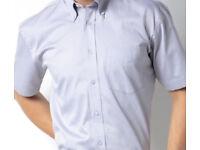 Kustom Kit men's short sleeve Oxford shirt