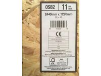 5 sheets OSB 11mm - Structural Oriented Strand Board. 8ft x 4ft 2440mm x 1220mm