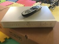 Sky+ box with remote control and power lead