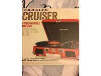 Brand new 3-Speed Portable Turntable Crosley Cruiser