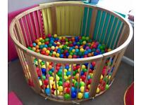 Large Wooden Playpen/ Ball Pit
