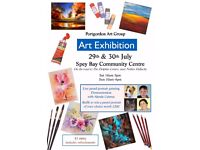 Portgordon Art Group Exhibition at Spey Bay Hall 29th-30th July