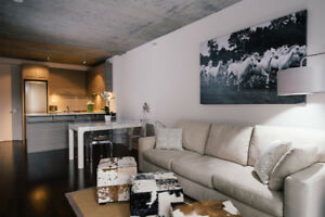 *Fully furnished 3 1/2 condo downtown Montreal-Seville project*