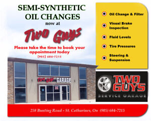 Two Guys Service Garage - Semi Synthetic Oil Changes