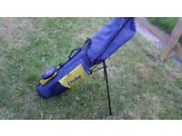 Used Dunlop Golf Bag Blue/Yellow