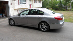2012 Hyundai Genesis silver Interior black leather Sedan