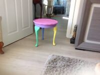 ANTIQUE PAINTED TABLE IN LOVELY COLOURS FOR CHILDS BEDROOM OR ANYWHERE REALLY