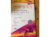 6 IAAF World Championship Tickets 7th August CAT C