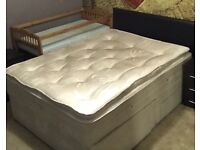 3000 Pocket Spring Luxury King Size Mattress with Divan Storage Bed
