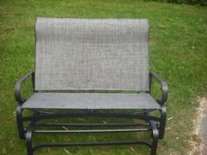 lightly used aluminum  Sojag Salvador gliding  bench
