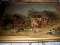 ORIGINAL OIL PAINTING SIGNED EDWIN FREDERICK HOLT 1830-1910