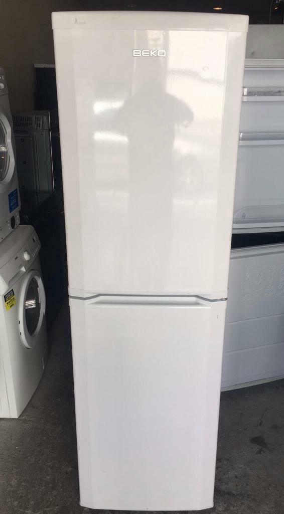 A CLASS BEKO FROST FREE FRIDGE FREEZER GOOD WORKING CONDITION, 3 MONTH WARRANTYin Walthamstow, LondonGumtree - Slim Fridge Freezer A Class Frost Free Size Wide 55cmTall 180cmClean Fridge Fully Working Delivery is available Contact me on 07460961207