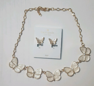 Kate Spade Mother of Pearl Earring and Necklace Set