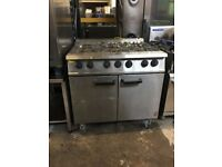 Falcon 6 Burner Dominator Plus Oven Range Natural gas/ Stainless steel/commercial