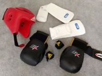 Large Boxing Equipment (Headgear, gloves, shin guards)