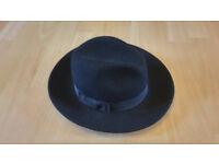 Womens Black Boho Fender Hat - Worn once