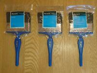Hamilton Acorn British Made Quality Kestrel Range 3 Paint Brush Pack 100mm New