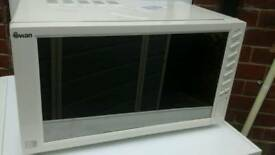 Swan mirror door microwave