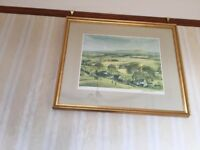 Two framed James McIntosh Patrick prints. Signed and numbered
