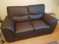 Brand new 3 seater bonded leather sofa (brown)