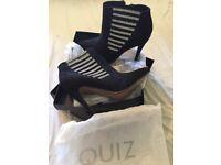 Quiz diamanté mesh ankle boots