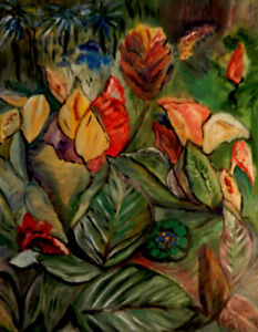 """""""Botanical Garden"""", abstract oil painting on canvas"""
