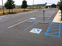 Traffic painting, parking lot line painting