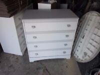 Bedroom Units White & Grey drawer handles