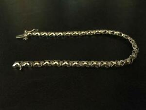 White Gold bracelet with small diamonds