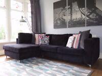 Black SOFOLOGY Left Hand Corner Sofa