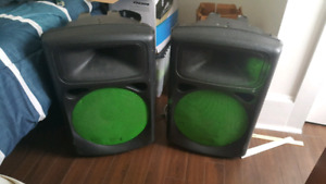 """Pair of 12"""" Peavy Speakers For DJ or Band Use"""