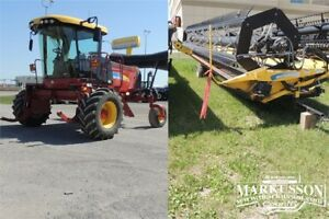 2013 NH H8060 Swather & 36' Header - 190hp, Roto-Shear