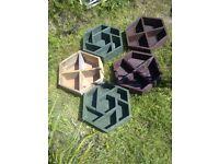 Six sided multi-pot herb garden planters