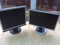 2 PC Monitors for sale. Excellent Condition