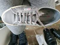 Mens grey leather superga size 9