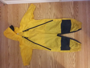 Yellow and navy Tuffo Muddy Buddy in size 2t and 3t