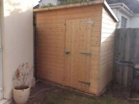 7x4 Garden Pent-Roof Shed - Excellent condition