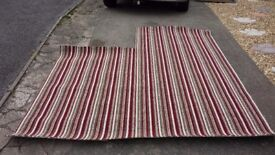 Brand new striped carpet offcut