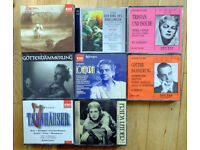 Eight boxed sets of HISTORIC performances of Wagner Operas