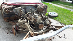390 Ford engine block and transmission