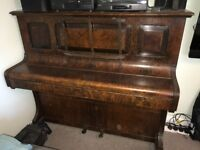 Vintage Upright Piano solid wood with Iron frame. all keys / strings in working order