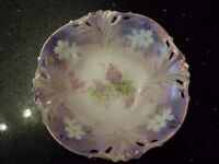 R S Prussia floral bowl