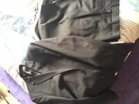 Men's Burton brown/pinstripe suit