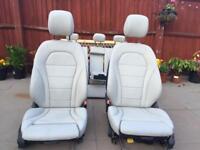 Mercedes W205 SPORT leather interior seats