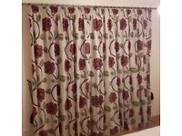 Next floral pencil pleat fully lined curtains