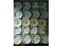 Selection of 86 vintage plates